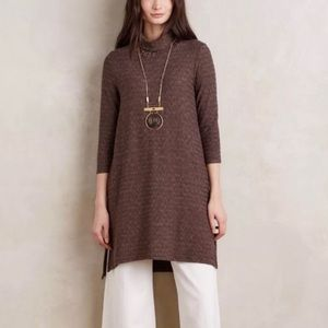 Anthropologie by Puella Mock neck Tunic Sweater